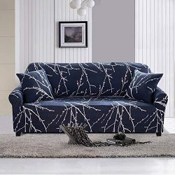Lamberia Printed Sofa Cover Stretch Couch Cover Sofa Slipcovers for 3 Cushion Couch with Two Fre ...