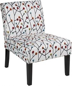 Red Hook Martina Contemporary Upholstered Armless Accent Chair – Floral