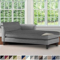 Sofa Shield Original Patent Pending Reversible Sofa Chaise Protector, 102×34 Inch, Washable ...