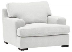 Stone & Beam Lauren Down-Filled Oversized Living Room Accent Armchair with Hardwood Frame, 4 ...