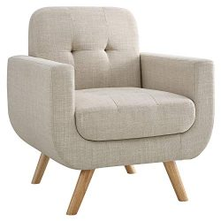 Millbury Home H4-BG Elena Modern Fabric Contemporaty Armchair Singer Sofa for Living Room Furnit ...