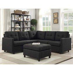 Bliss Brands Modular Sectional Sofa Sets Assemble Living Room Furniture Sofas Loveseat Bundle Se ...