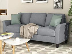 Harper & Bright Designs Sofa Couch Living Room Furniture Sofa Sets (3-Seat, Gray)