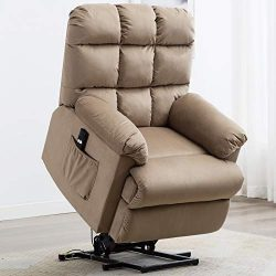 ANJ Power Lift Recliner Chair for Elderly with Side Pocket, Heavy Duty and Safety Motion Lift Ch ...