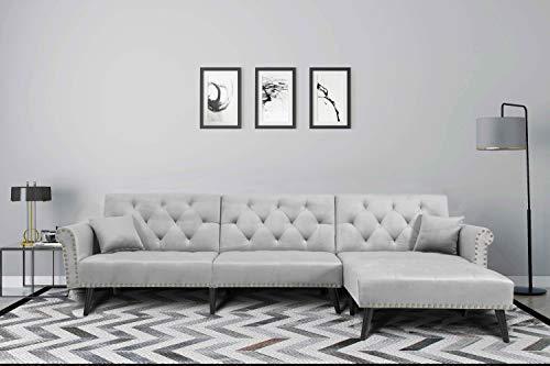 Harper&Bright Designs Sofa Bed Set Sectional Sofa Living Room Furniture Sofa Set Sleeper Cou ...