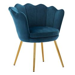 Kmax Living Room Chair, Mid Century Modern Retro Leisure Velvet Accent Chair with Golden Metal L ...