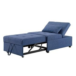 Powell Boone Convertible Sofa Bed in Blue