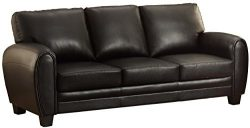 Homelegance Rubin 85″ Bonded Leather Sofa, Black