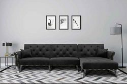 Harper&Bright Designs Sofa Bed Set Sectional Sofa Living Room Furniture Sofa Set Sleeper Cou ...