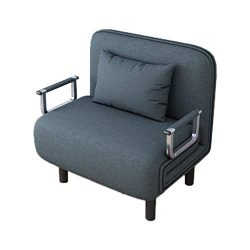 Sofa Bed, WEELOLOE Convertible Sofa Couch with Armrest Home Recliner Couch Home Furniture Blue