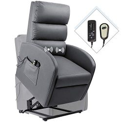 Homall Electric Power Lift Recliner Chair Massage Sofa Home Recliner for Elderly Classic Lounge  ...