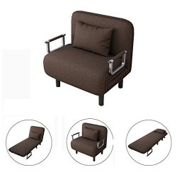 Sofa Bed Convertible Chair | Folding Arm Chair Single Sleeper Leisure Recliner Lounge Couch Home ...