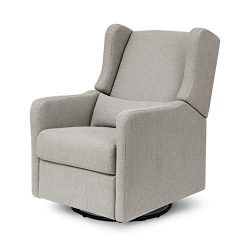 Carter's by Davinci Arlo Recliner and Swivel Glider in Grey Linen | Water Repellent and St ...