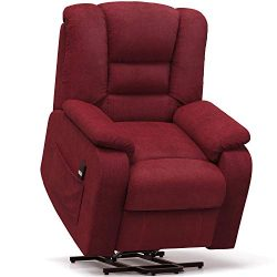 Electric Power Lift Recliner Chair Glider Chair with Upholstery Fabric and Oversize for Living R ...
