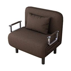 YOMXL Sofa Bed Folding Sleeper Bed Chair,Single Sleeper Convertible Chair Lounger Couch Recliner ...