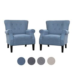 Top Space Accent Chair Sofa Mid Century Upholstered Roy Arm Single Sofa Modern Comfy Furniture f ...