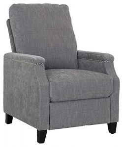 Ravenna Home Maynard Contemporary Recliner, 27.6″W, Rolling Fork Gray