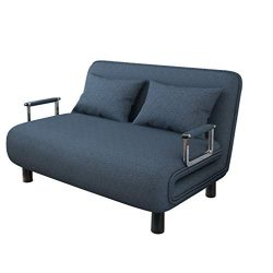 Mapsoul Convertible Sofa Bed Fold Up & Down Daybed, Modern Recliner Couch Soft Futon Chaise, ...