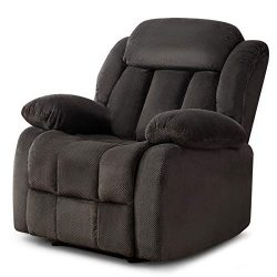 ANJ Oversized Fabric Recliner Chair for Living Room Lounge Chair-R9835 Dark Blue