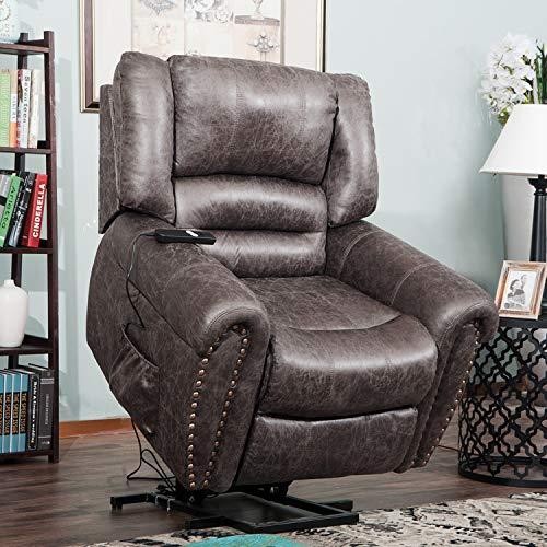 Harper & Bright Designs Lift Chair Heavy-Duty Power Lift Recliner Chair for Elderly Built-in ...
