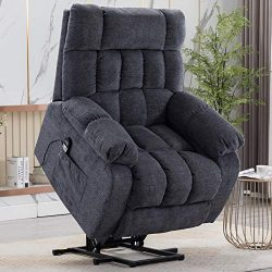 CANMOV Power Lift Recliner Chair for Elderly with Heat & Massage, Heavy Duty Lift Reclining  ...