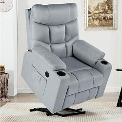 YODOLLA Electric Power Recliner Chair, Recliner Sofa with Massage & Heat Function, Lazy Boy  ...