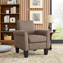 Lohoms Modern Accent Chair Uplostered Fabric Living Room Arm Chairs Comfy Single Sofa Chair (Lig ...