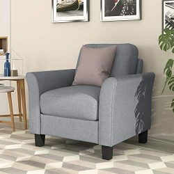 Harper&Bright Designs Living Room Sets Furniture Armrest Single Seat Sofa (Gray)