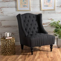 Christopher Knight Home Clarice | Tall Wingback Fabric Club Chair | Perfect For Living Room, Dim ...