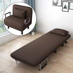 Follure Folding Sofa Bed, Convertible Couch Bed Chair, Full Padded Sleeper Bed Chair Lounger Sou ...