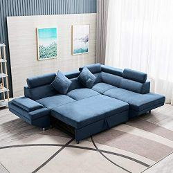FDW Sofa Bed Sectional Sofa Futon Sofa Bed Sleeper Sofa for Living Room Furniture Set Modern Sof ...