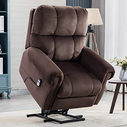 CANMOV Power Lift Recliner Chair with Heat & Massage for Elderly, Heavy Duty Reclining Chair ...