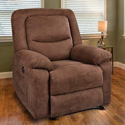 MAGIC UNION Overstuffed Fabric Electric Recliner Chair Heated Vibration Massage Sofa with USB Ch ...