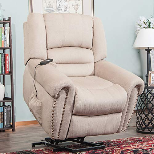 Harper & Bright Designs Lift Chair Heavy-Duty Power Lift Recliner Chair for Elderly Built-in ...