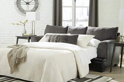 Signature Design by Ashley – Millingar Contemporary Queen Sofa Sleeper, Smoke Grey