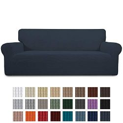 Easy-Going Stretch Sofa Slipcover 1-Piece Couch Sofa Cover Furniture Protector Soft with Elastic ...