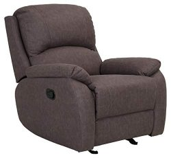 Ravenna Home Oakesdale Contemporary Recliner, 35.4″W, Langley Taupe