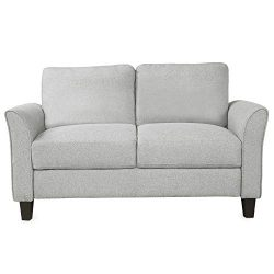 Fabric Loveseat Sofa,Double Seat Sofa for Living Room Furniture,Loveseat Chair (Light Gray,Loveseat)