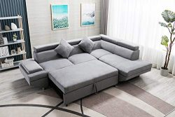 Sectional Sofa Sleeper Sofa Bed Futon Sofa Bed Sofas for Living Room Furniture Set Modern Sofa S ...