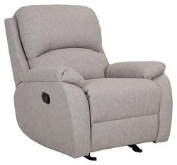Ravenna Home Oakesdale Contemporary Recliner, 35.4″W, Langley Buff