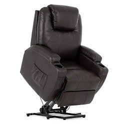 SUNCOO Lift Chair, Electric Power Lift Recliner Chairs for Elderly, Ergonomic Bonded Leather Ful ...