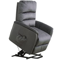 BELARDO home Lift Recliner Contemporary Power Lift Chair Soft and Warm Fabric with Remote Contro ...