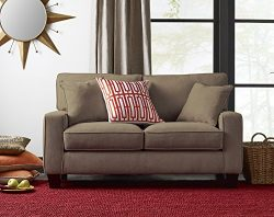 Serta Deep Seating Palisades 61″ Loveseat in Essex Tan
