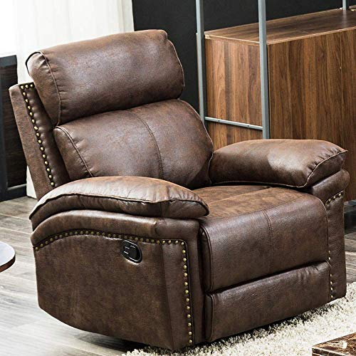 Romatpretty Recliner Couch Leather Sofa Single Sofa Home Furniture Living Room Adjustable Reclin ...